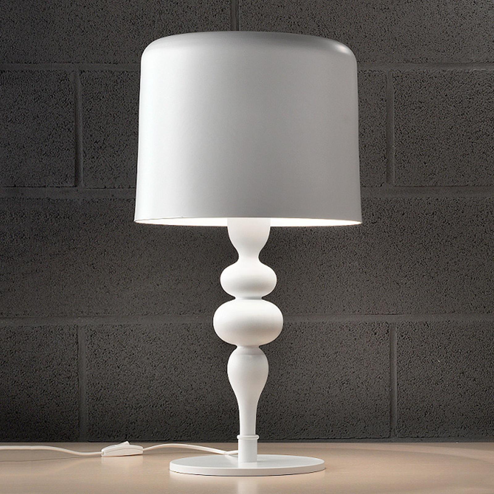 Tischleuchte Eva TL3+1G 75 cm, weiß