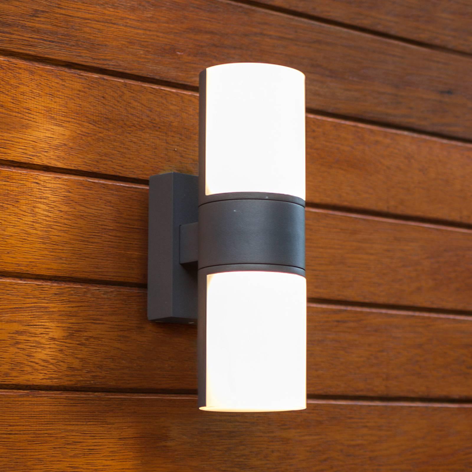 LED-Außenwandleuchte Cyra, zweiflammig