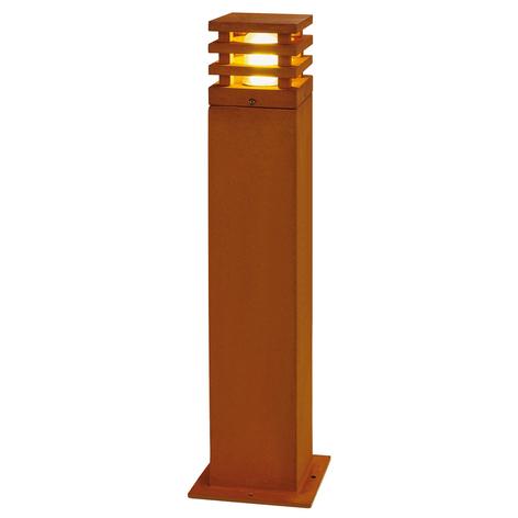 Rustiikkinen LED-pylväsvalo Rusty nelikulmainen