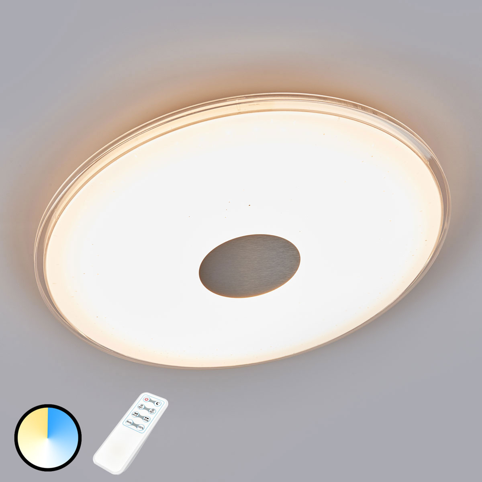 Plafonnier LED rond Shogun avec aspect scintillant