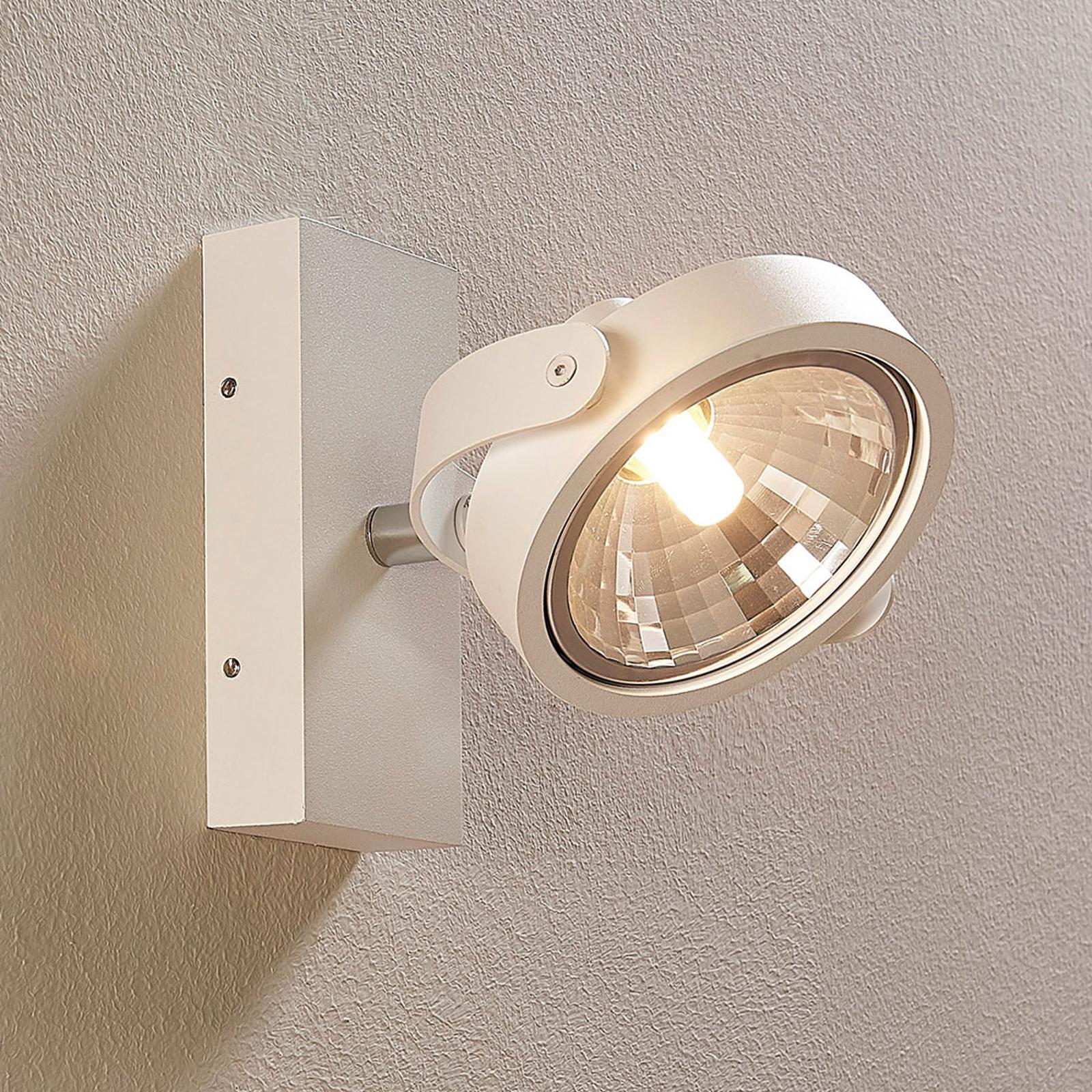 Weißer LED-Strahler Lieven für Wand und Decke