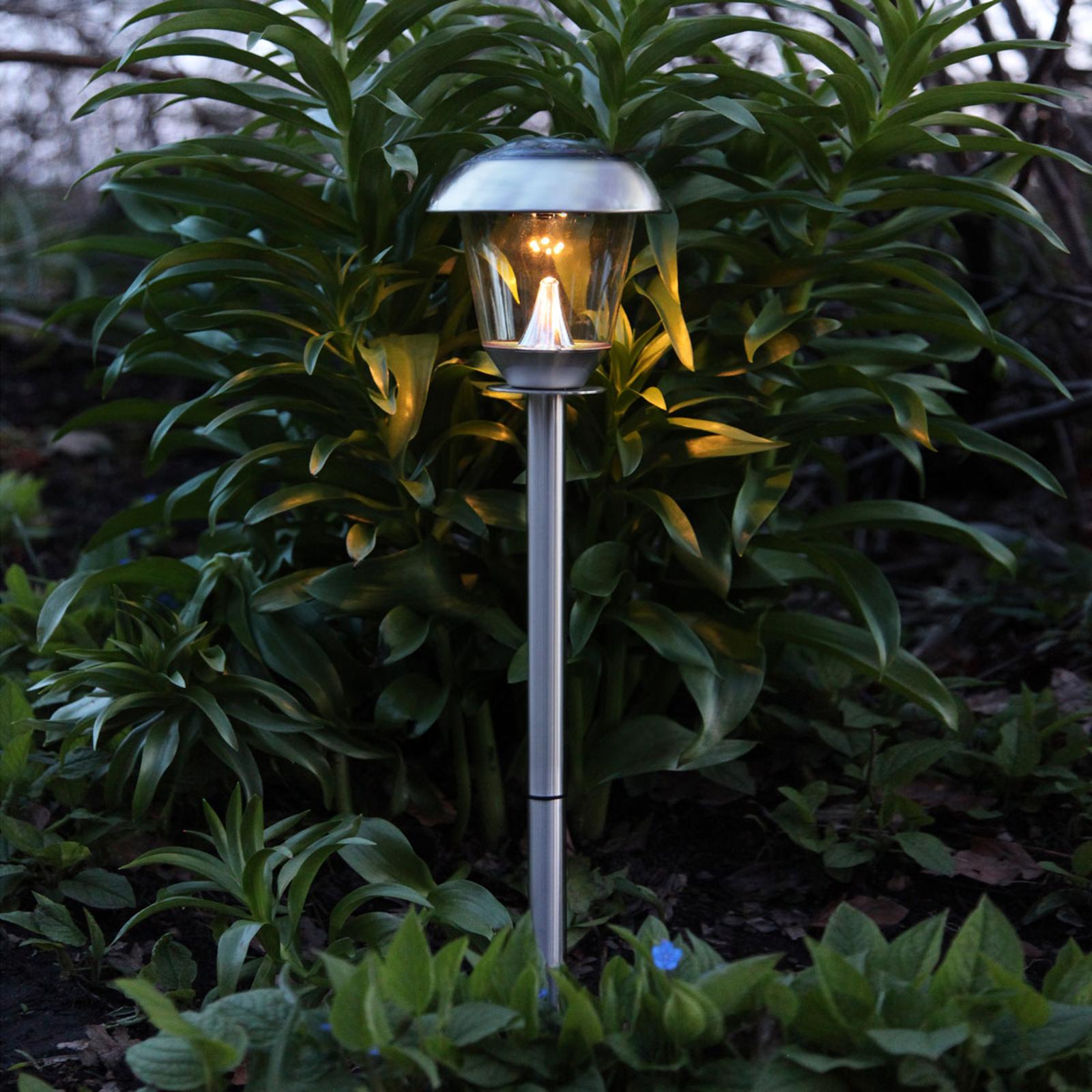 Belle lampe LED solaire Sarina inox 66 cm
