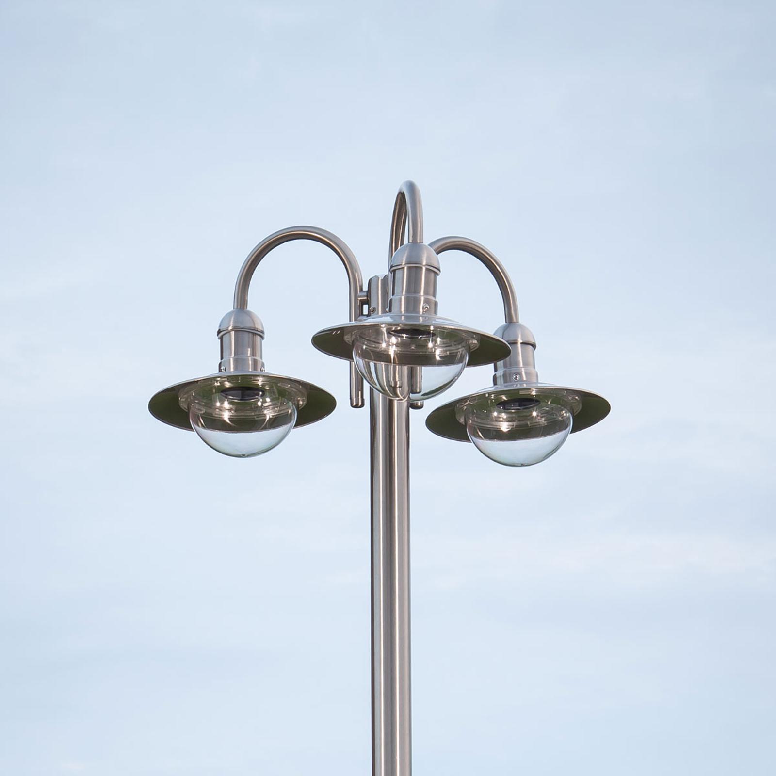 Kandelaber Damion av rustfritt stål, 3 lys