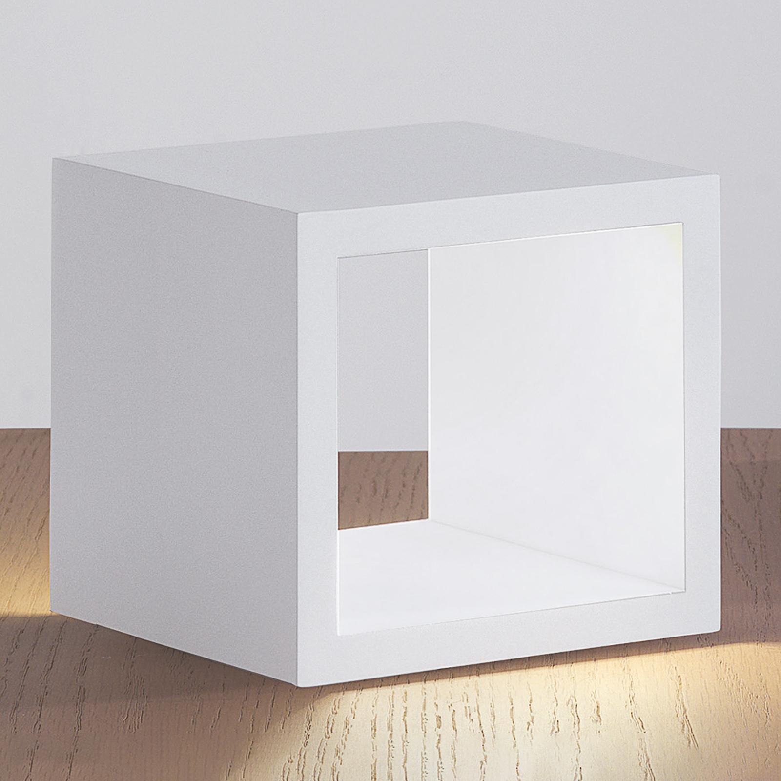 ICONE Cubò - LED tafellamp, wit