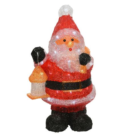 Figurka LED Święty Mikołaj, na baterie