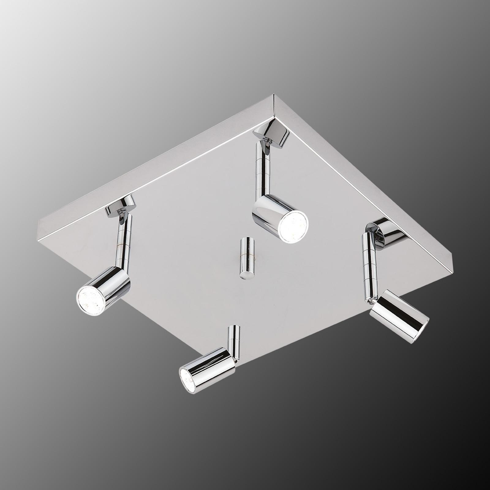 Kvadratisk Karen LED-loftlampe, 4 lyskilder