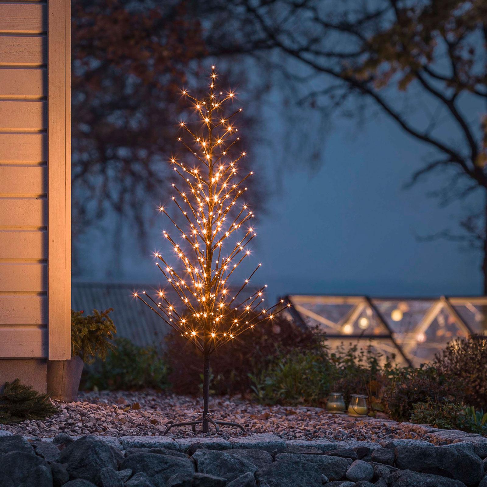 Sort LED-lystræ, 150 cm