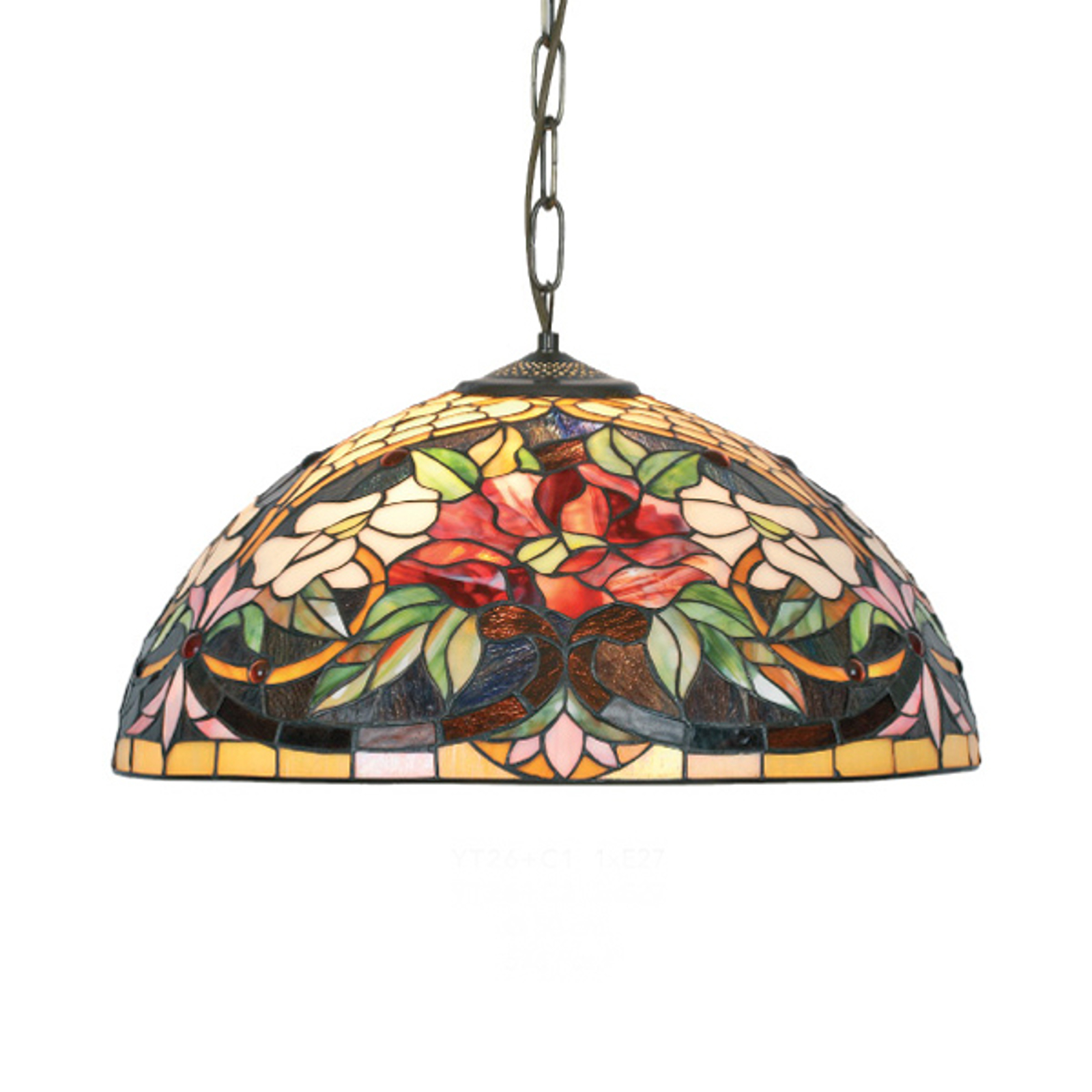 Hanglamp Ariadne in Tiffany-stijl 1-lichts