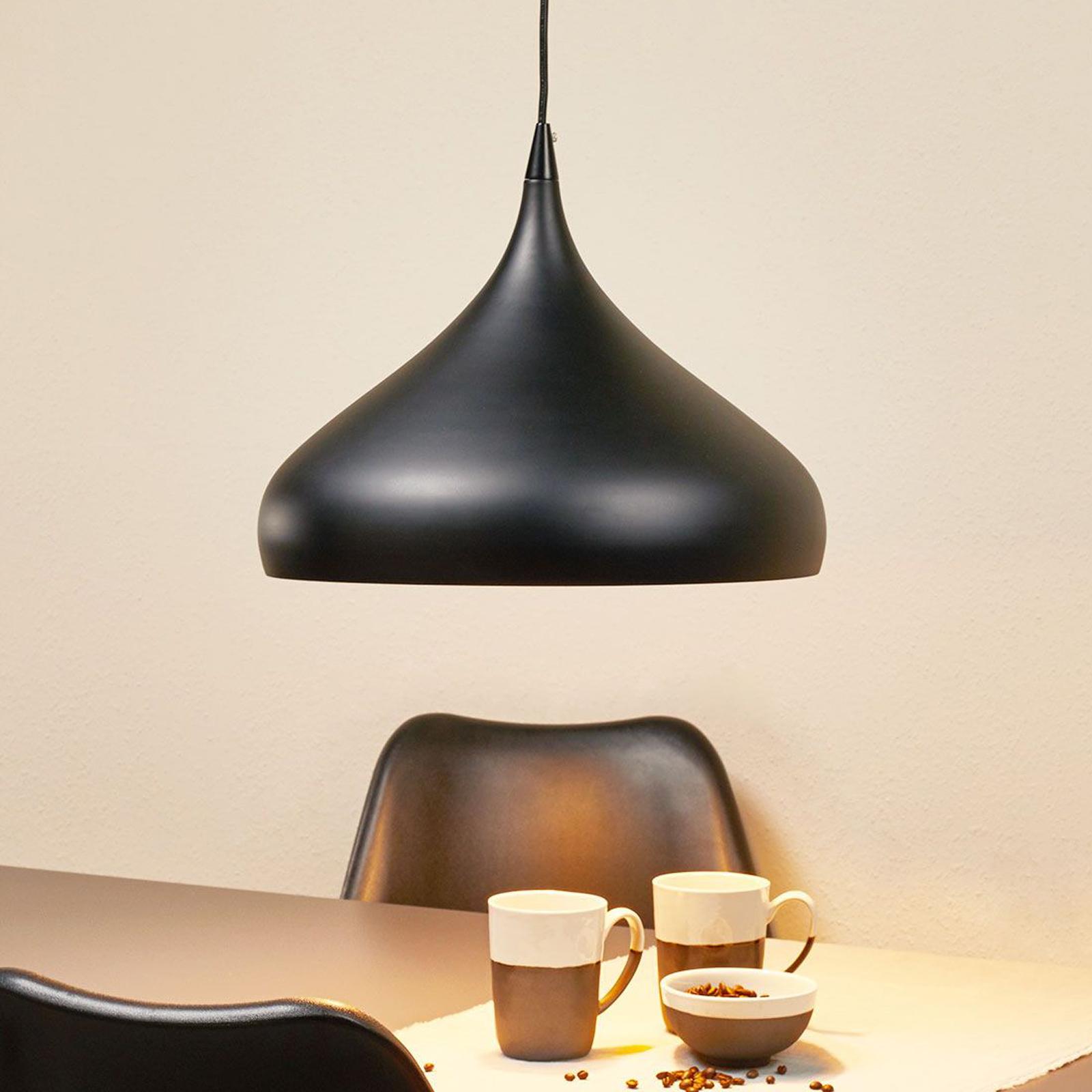 Czarna lampa wisząca Norma