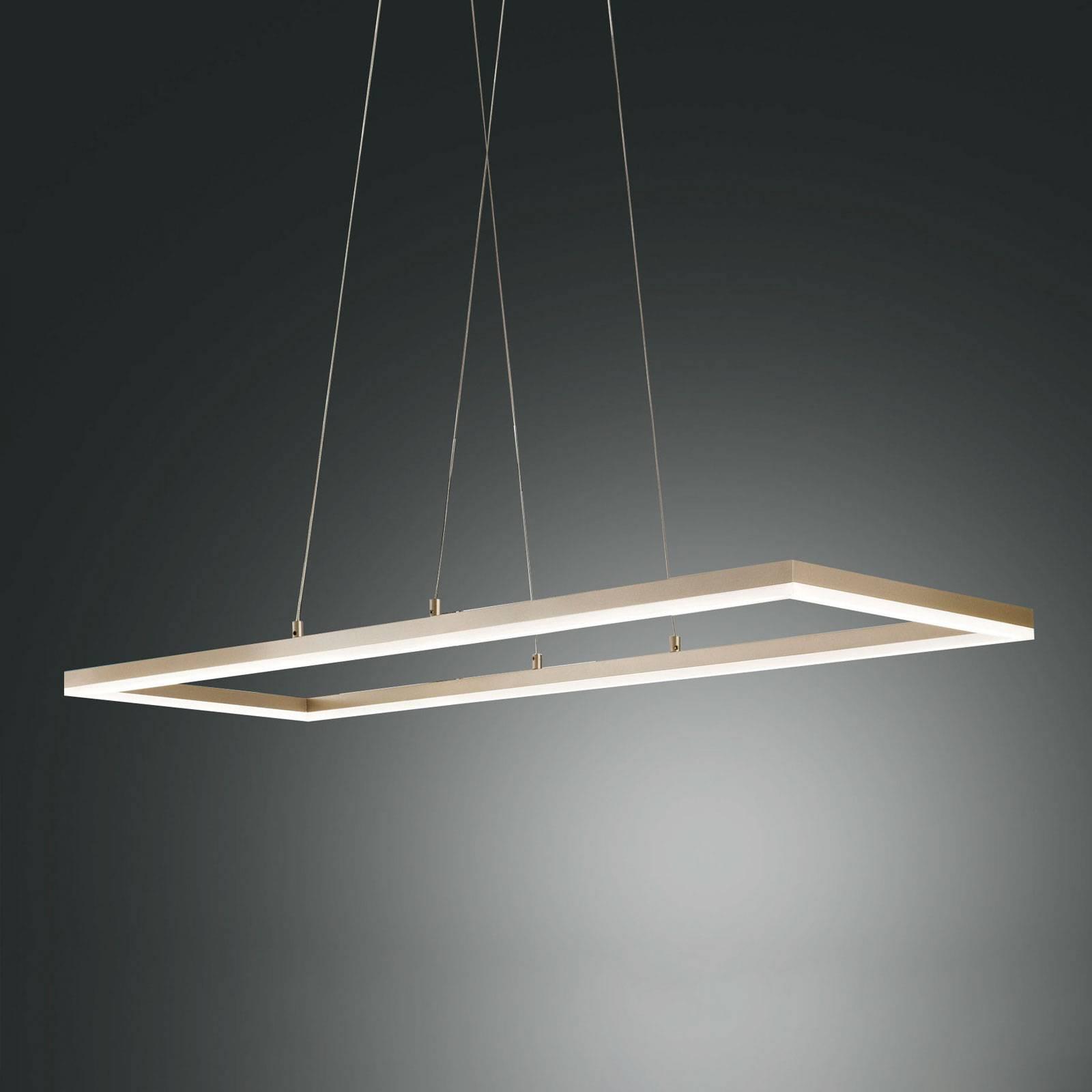 LED hanglamp Bard, 92x32cm in matgoud finish
