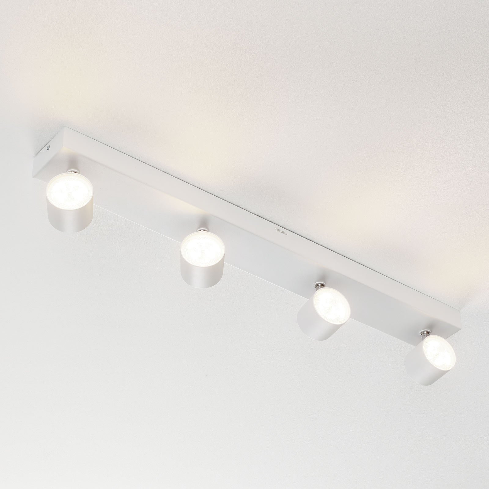 Plafonnier LED avec 4 spots Star blanc, warmglow