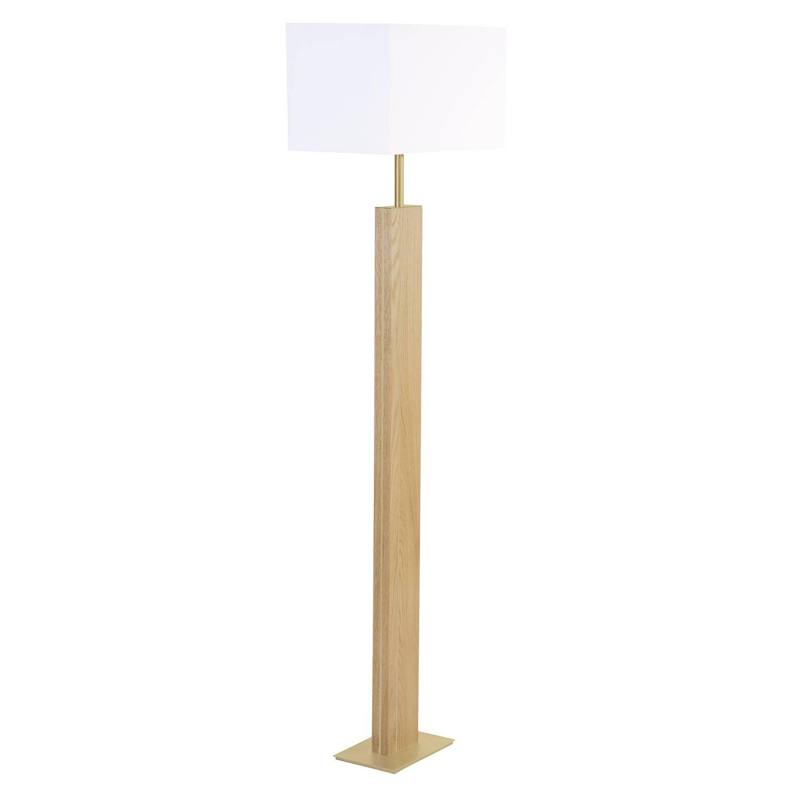 HerzBlut Miss Hilton lampadaire chêne, nickel