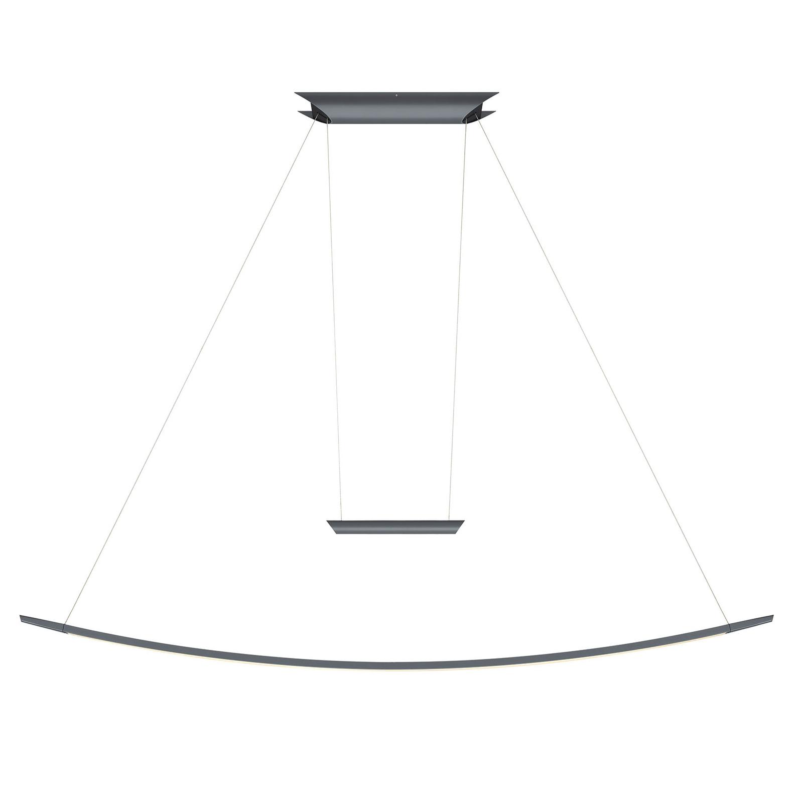 OLIGO Lisgo LED-Pendelleuchte, grau matt