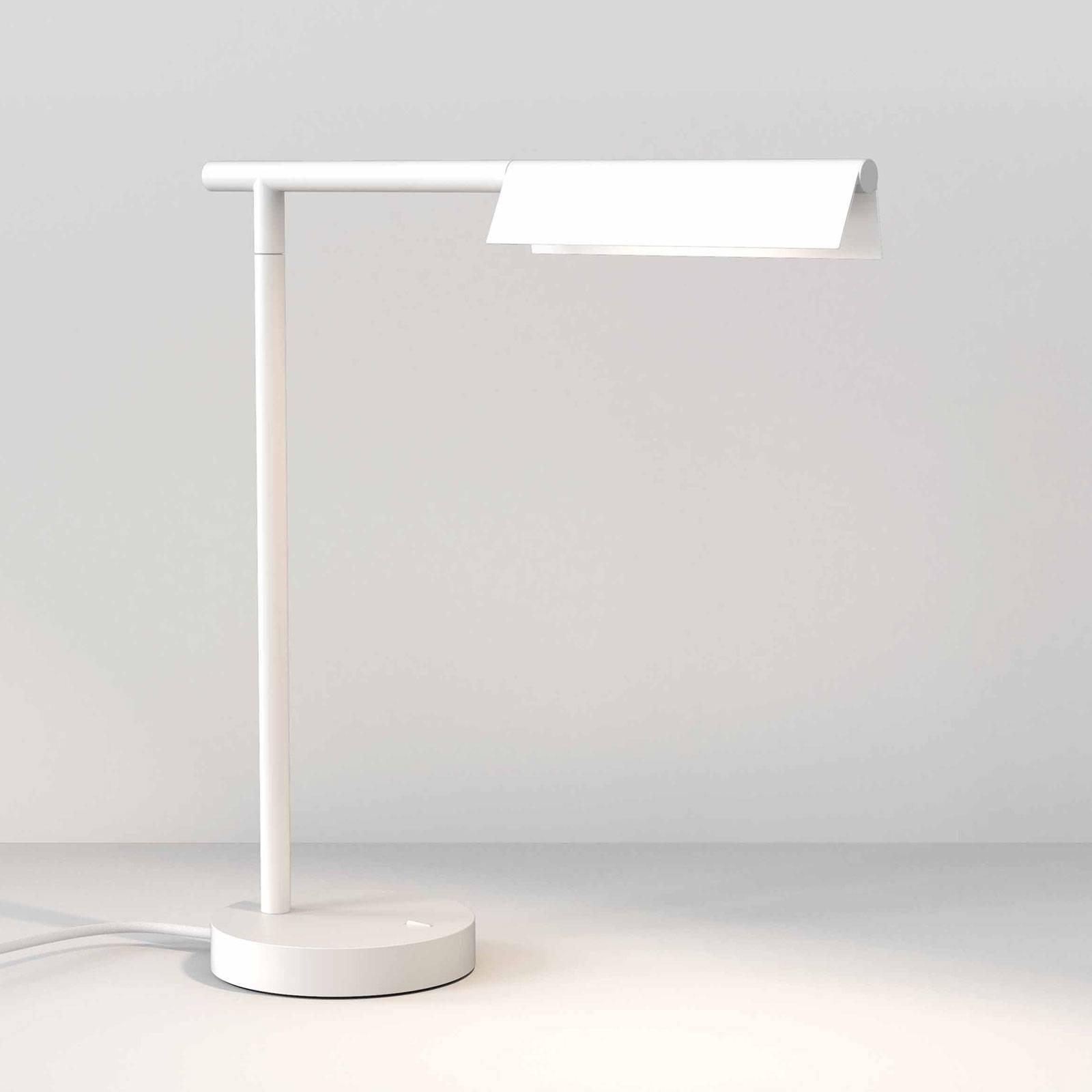 Astro Fold LED tafellamp mat wit