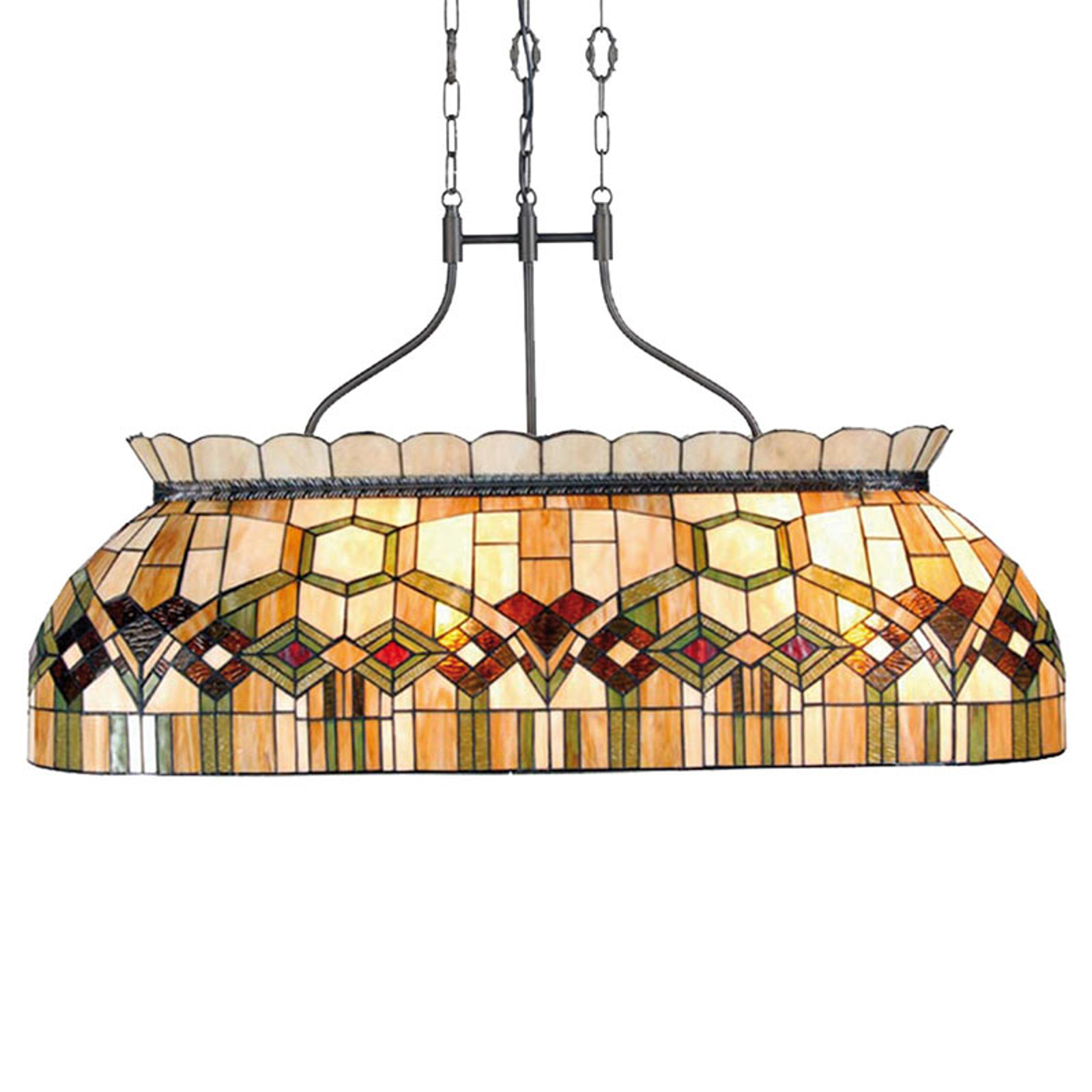 115 cm lange Pendelleuchte Saavik - Tiffany-Stil