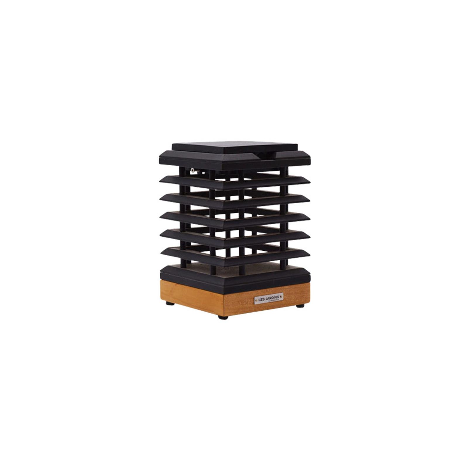 LED solární stolní lampa Tekura z teakového dřeva