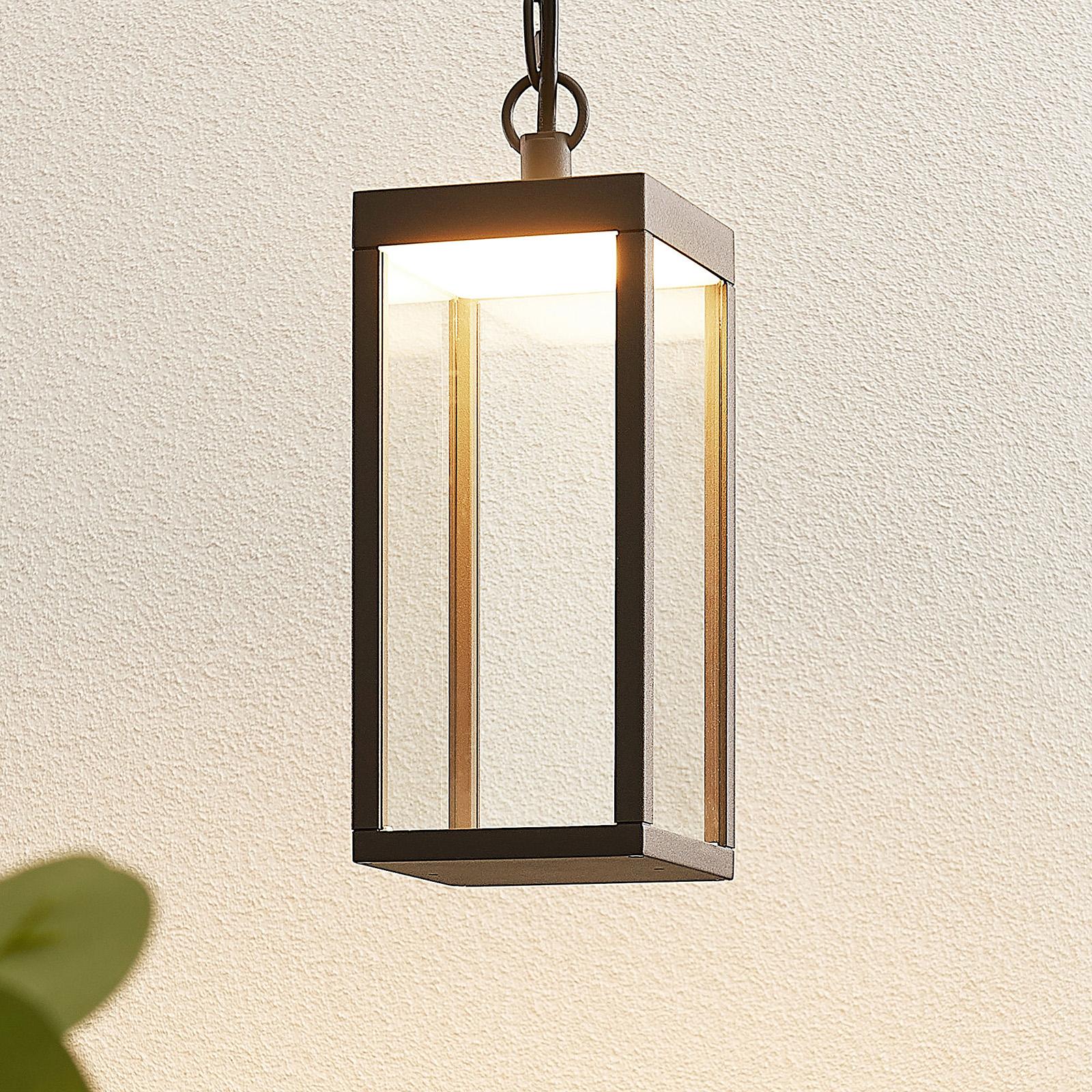 LED-Außenhängeleuchte Cube mit Glasschirm, 26 cm
