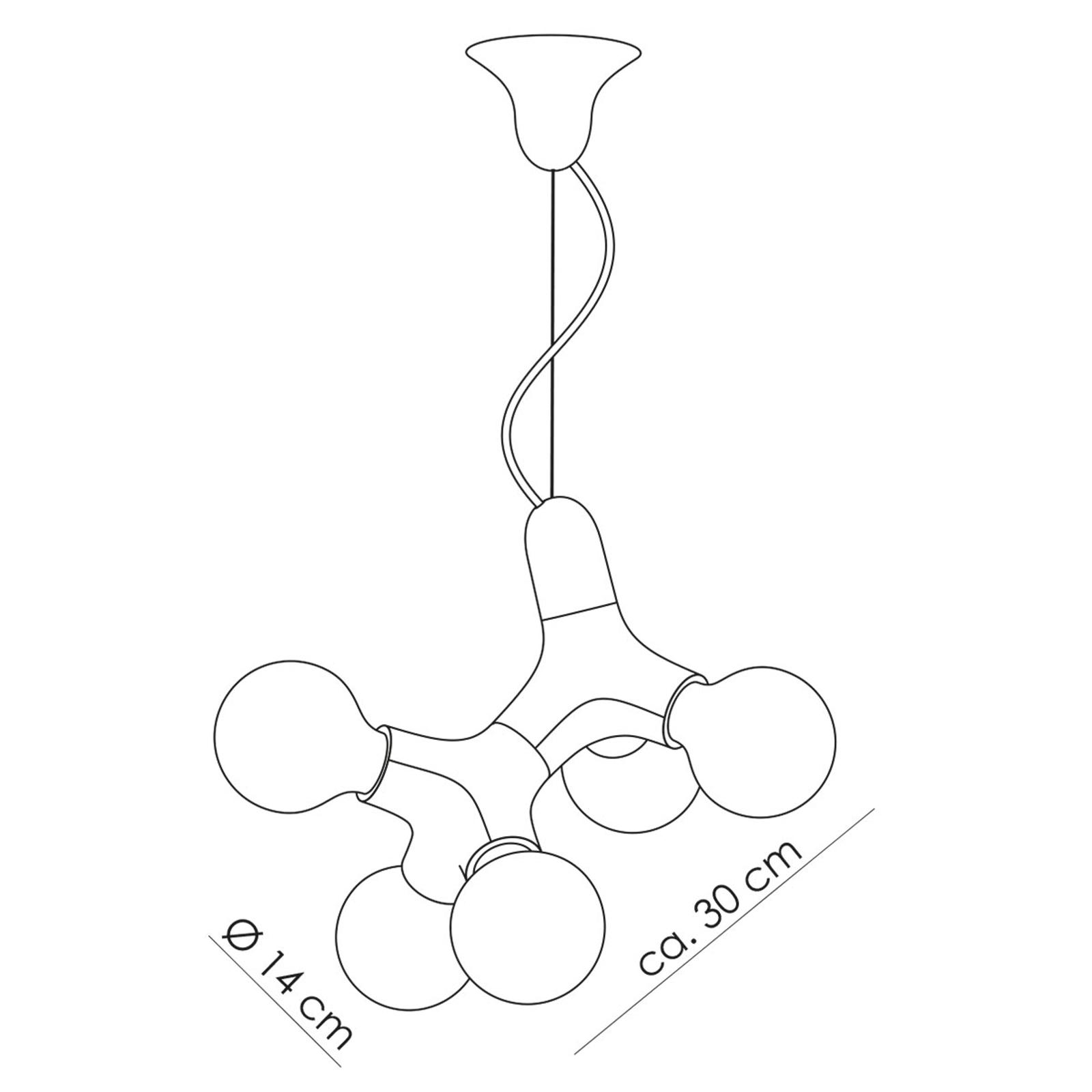 next DNA Double Designer-Pendelleuchte, weiß