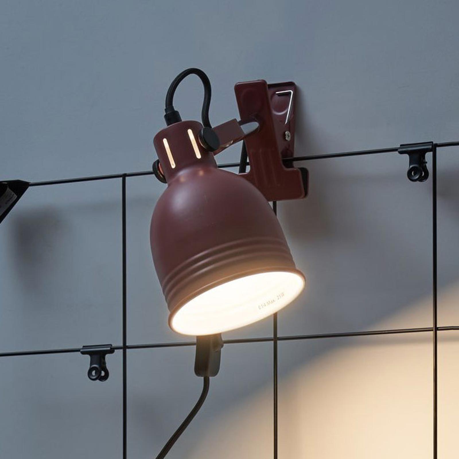 Pauleen Clip of Glow klämlampa med metallskärm
