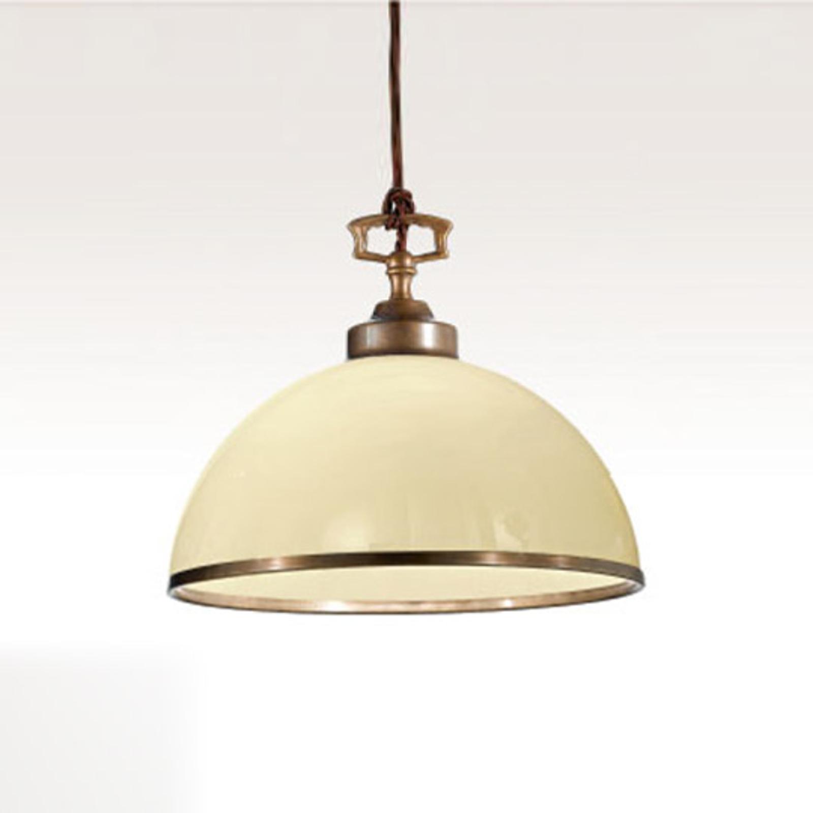 Mooi gevormde hanglamp La Botte ivoor