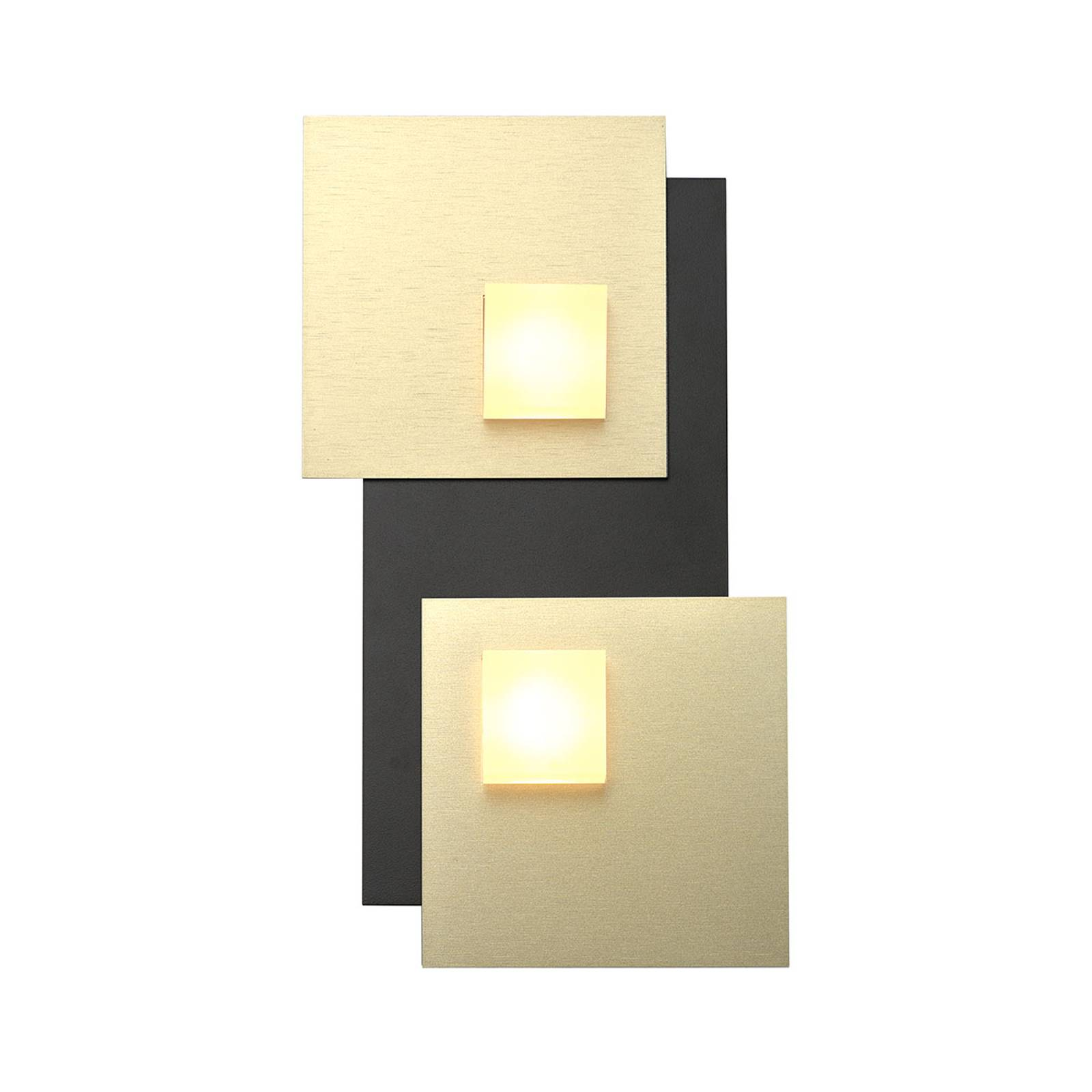 Bopp Pixel 2.0 LED plafondlamp 2-lamps zwart