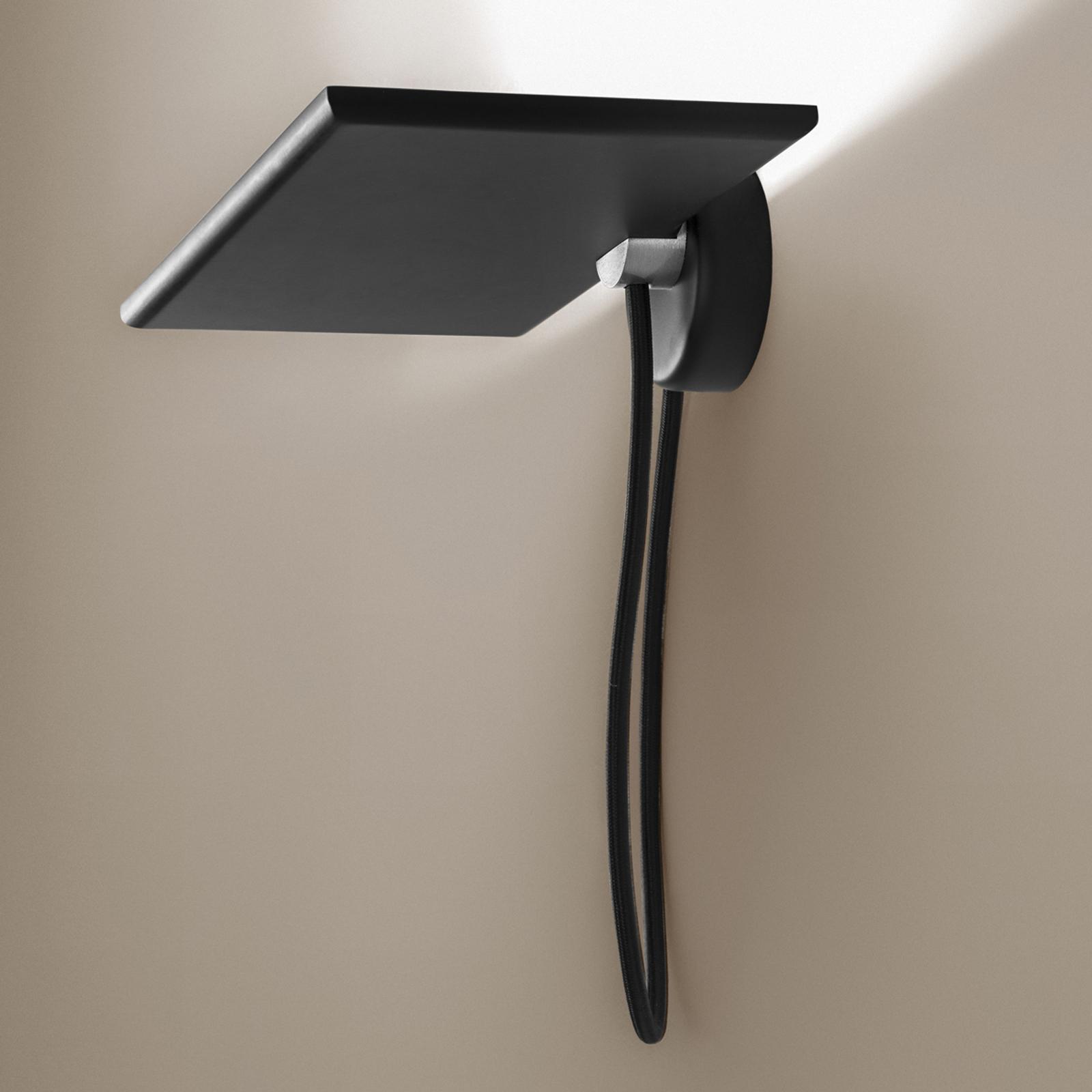ICONE GiuUp LED-uplight væglampe, 40 W, sort