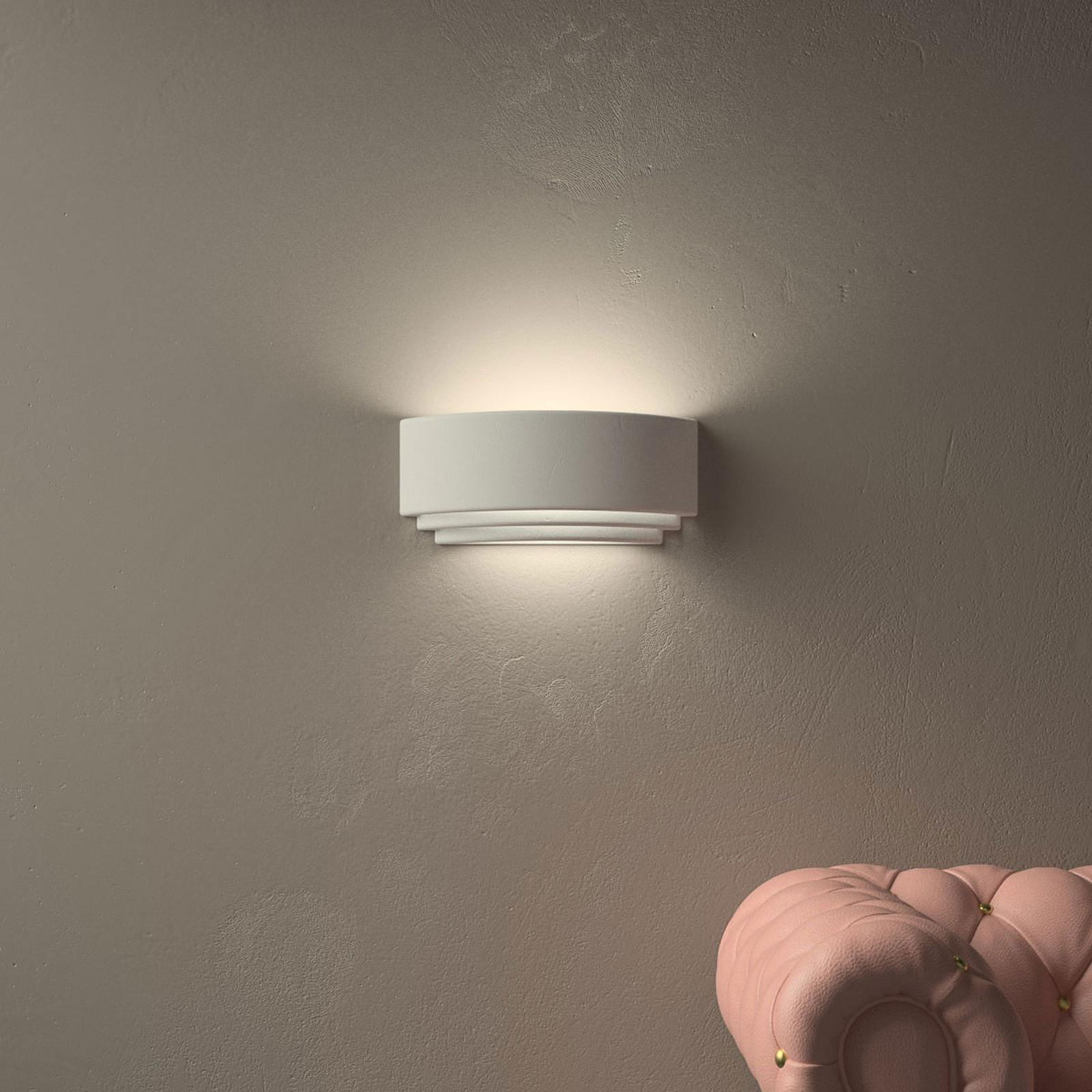 Decente wandlamp AMALFI van keramiek