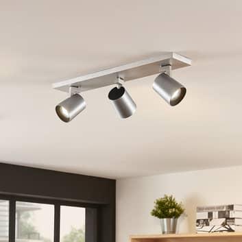 Takspotlight Iavo, justerbar, aluminium, 3 lampor
