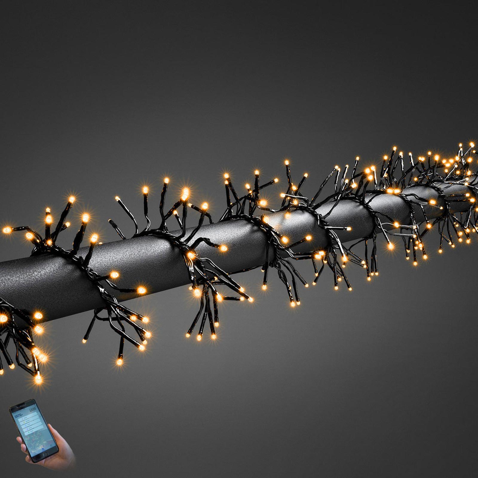 Børstelyskæde Cluster udendørs, app 960 lyskilder