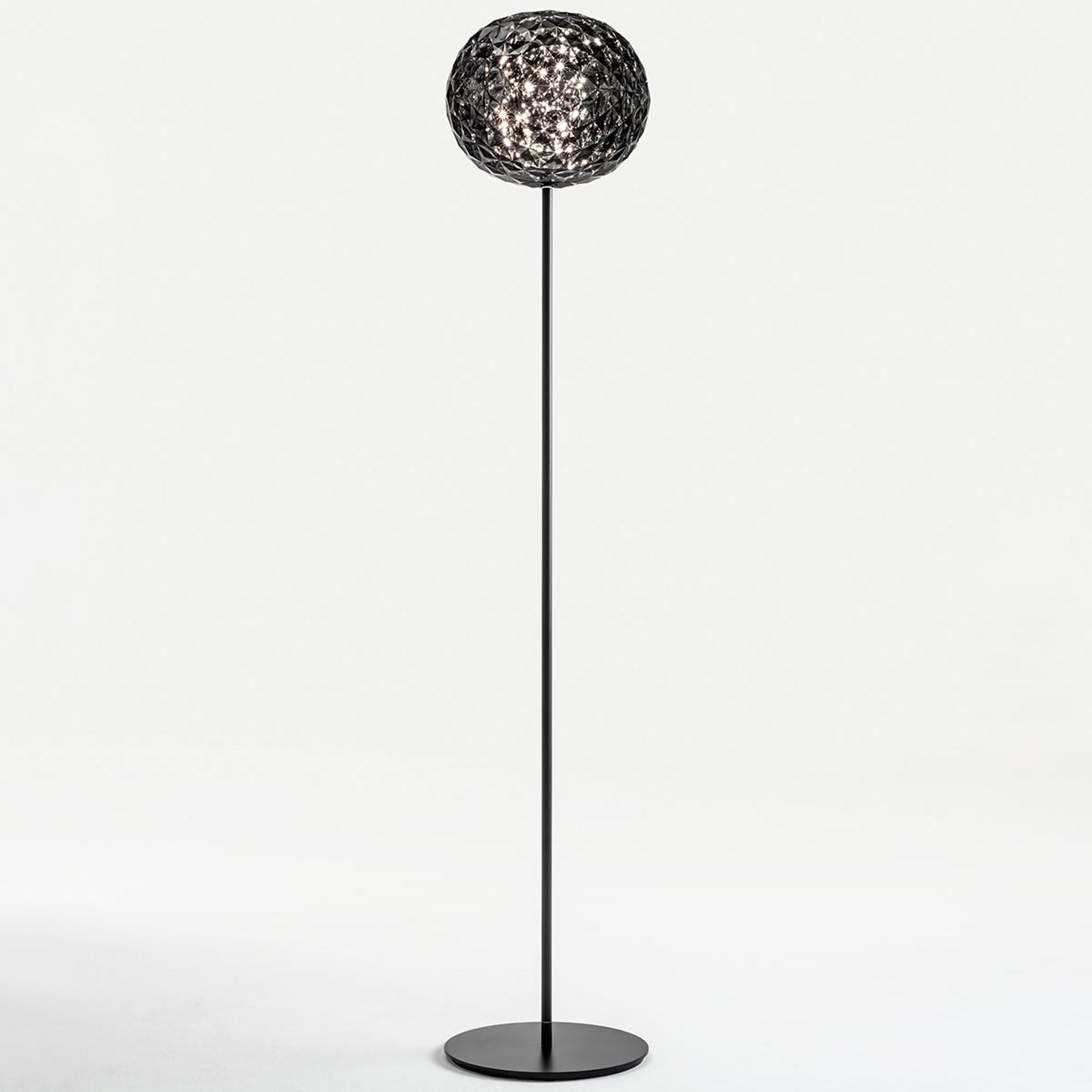 Kartell Planet LED-Stehleuchte 160cm rauchgrau