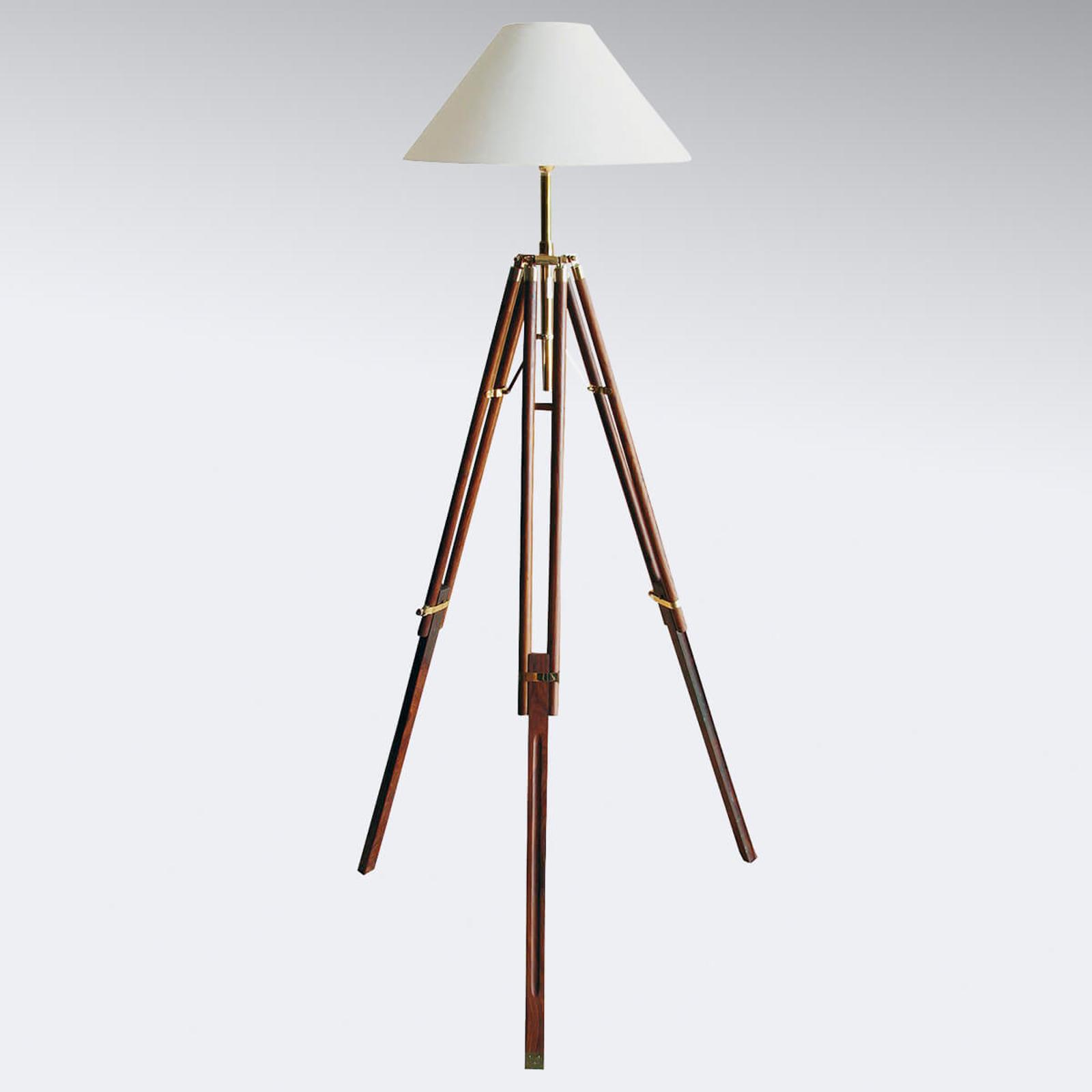 Driepootvloerlamp statief met witte kap