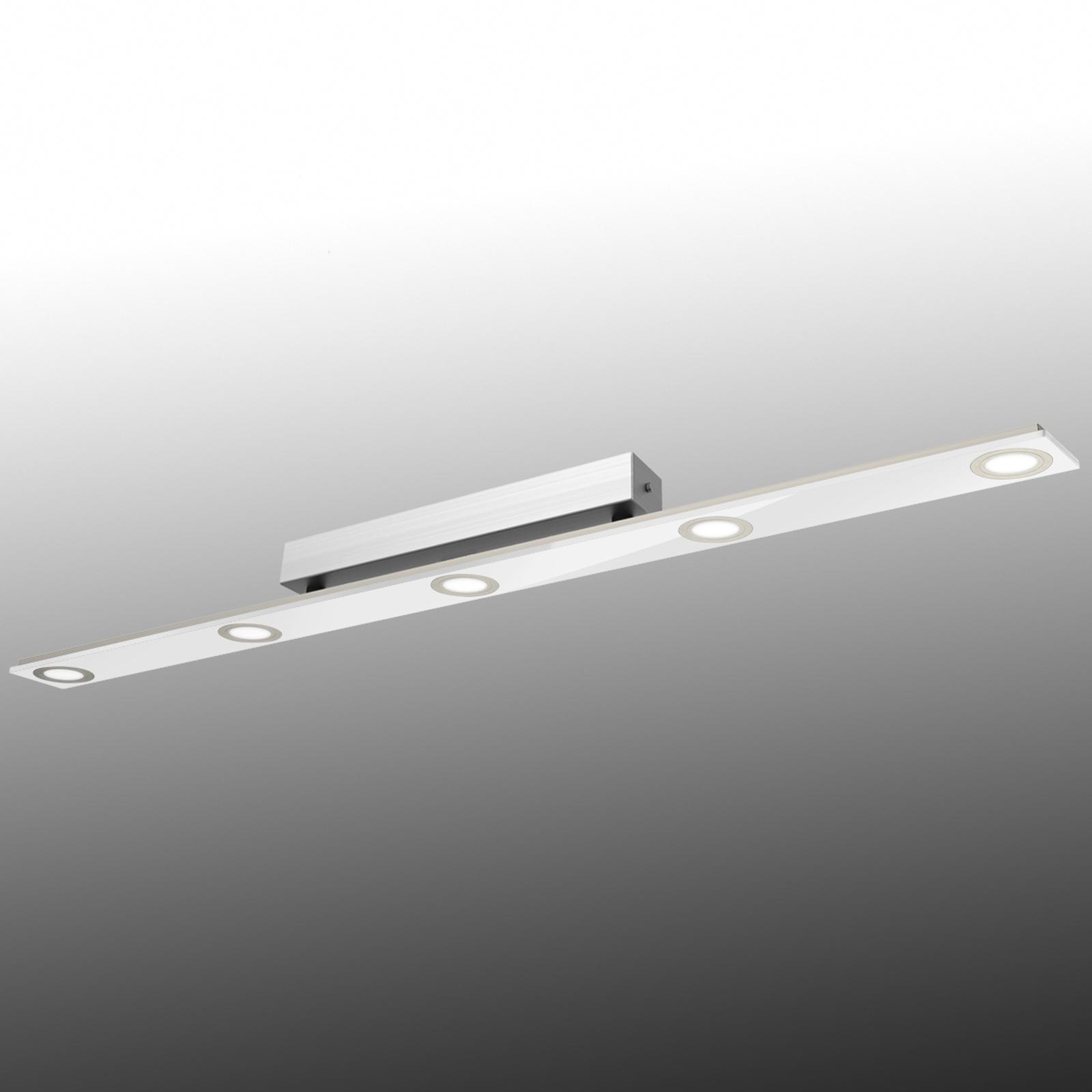 Längliche LED-Deckenlampe Pano, weiß