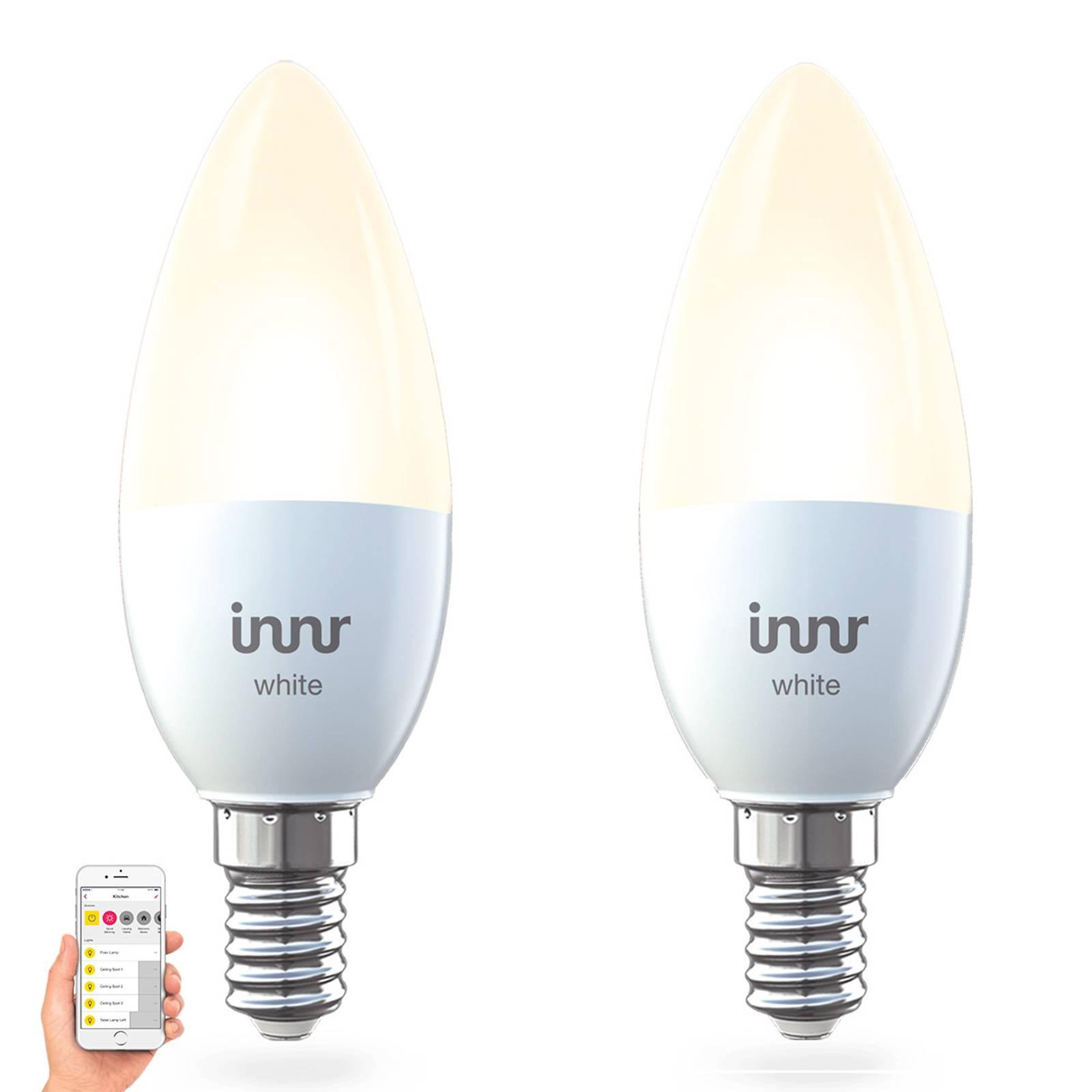 E14 5,3 W lampadina LED Innr Smart Candle White 2x