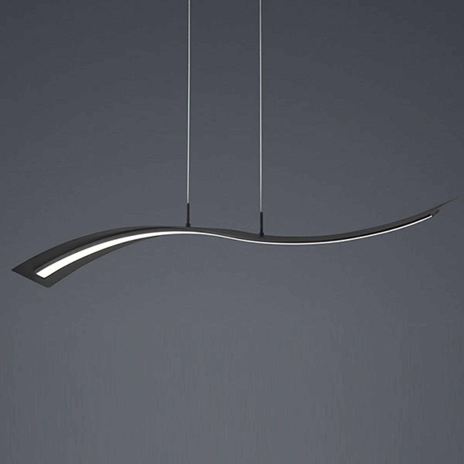 LED závěsné světlo Salerno, Switchdim, matná černá