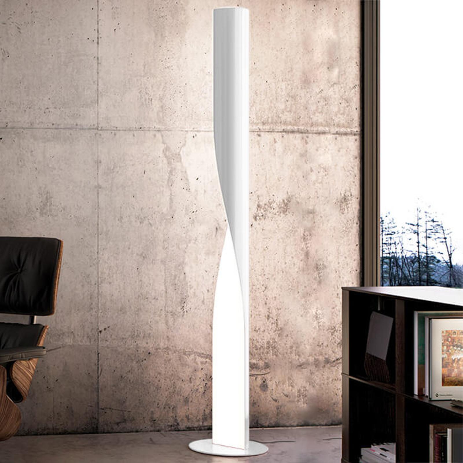 Lampa stojąca LED Evita, biała, piękny kształt