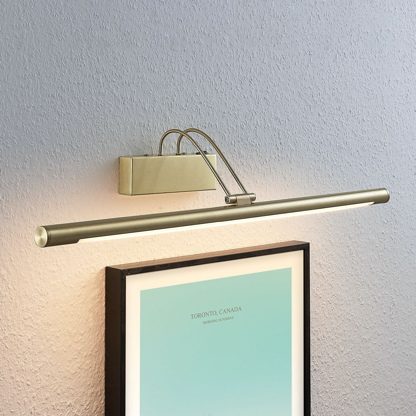 Mailine LED picture light with switch, brass_9624436_1