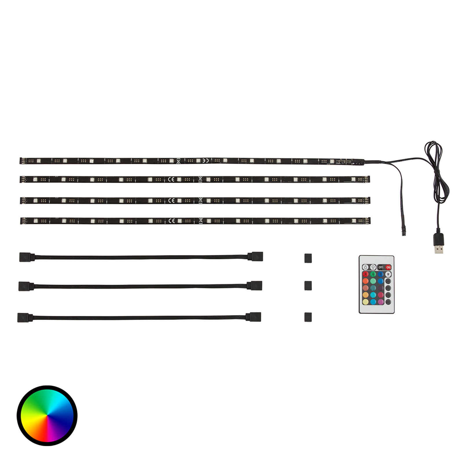USB-LED-list Watch till TV-bakgrundsbelysning