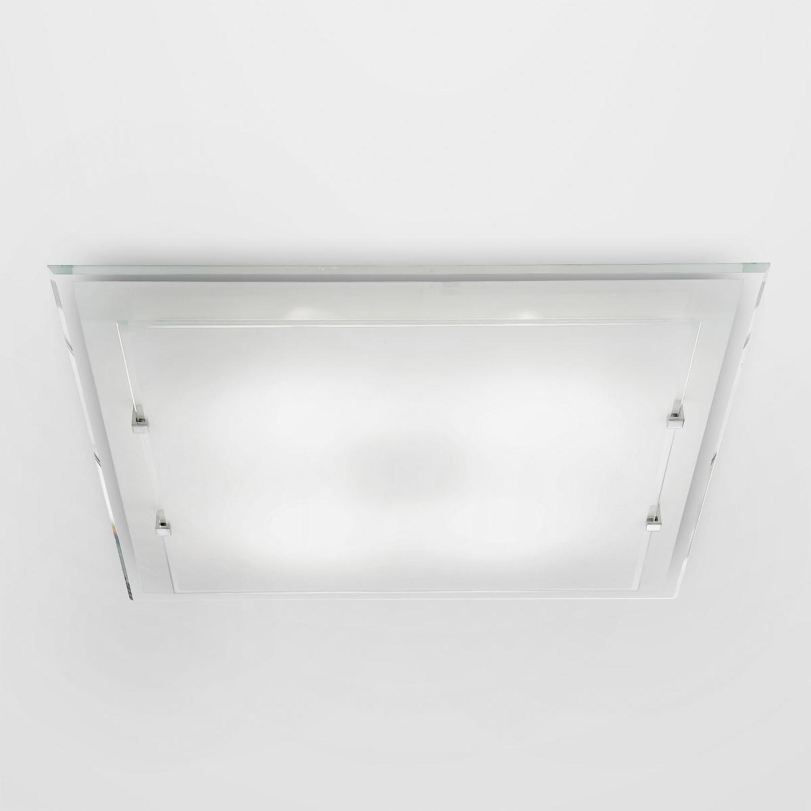 Vierkante plafondlamp Victoria, 40 x 40 cm