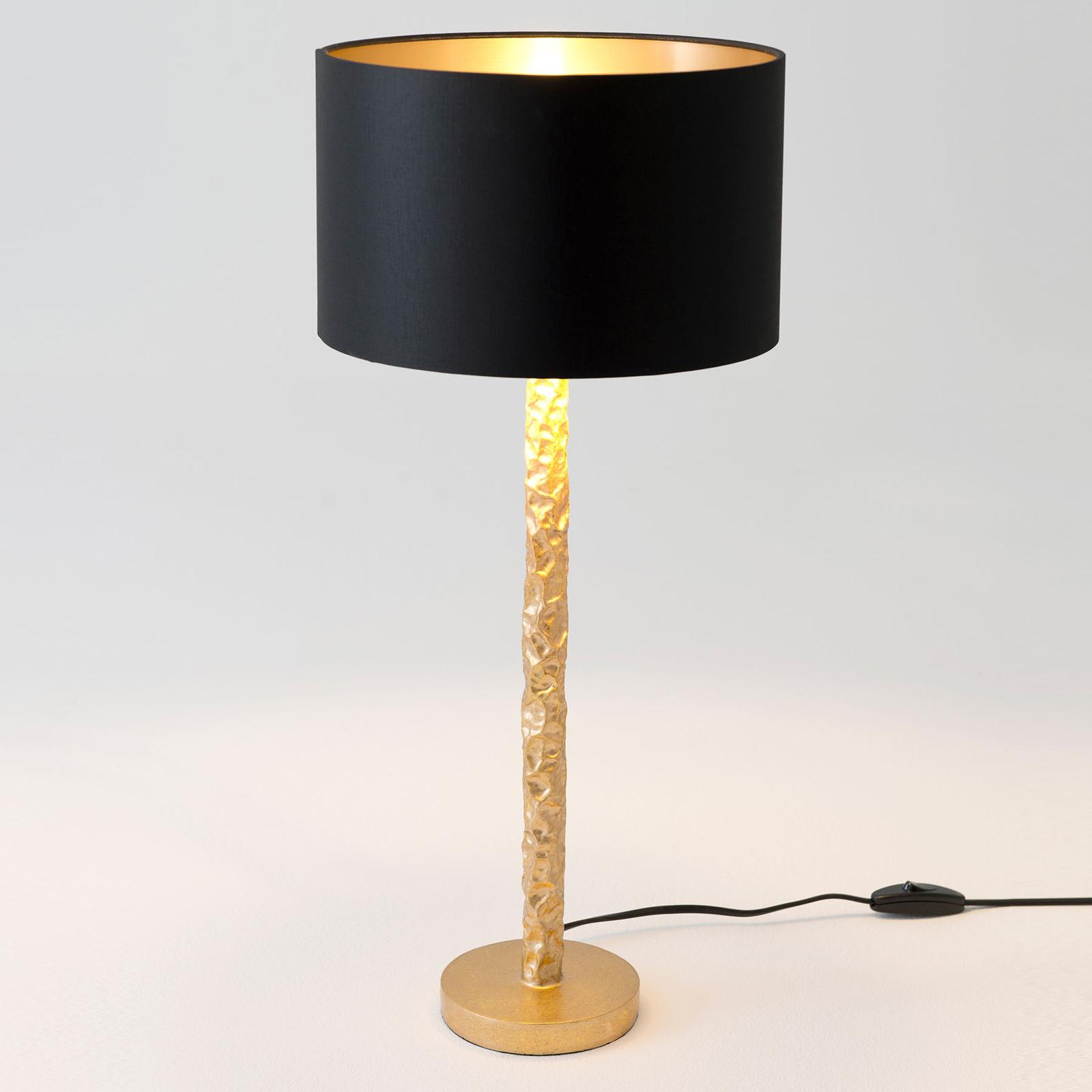 Cancelliere Rotonda bordlampe, sort/guld, 57 cm