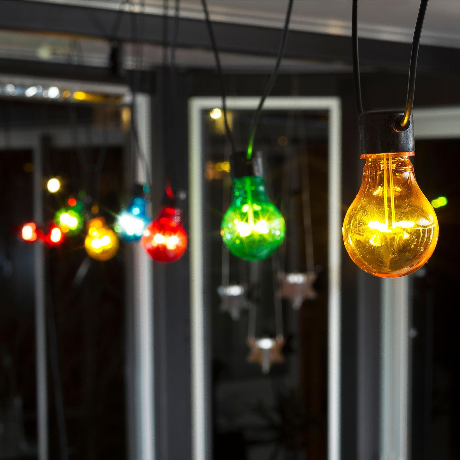 LED-ljusslinga Biergarten grundset, färgglad