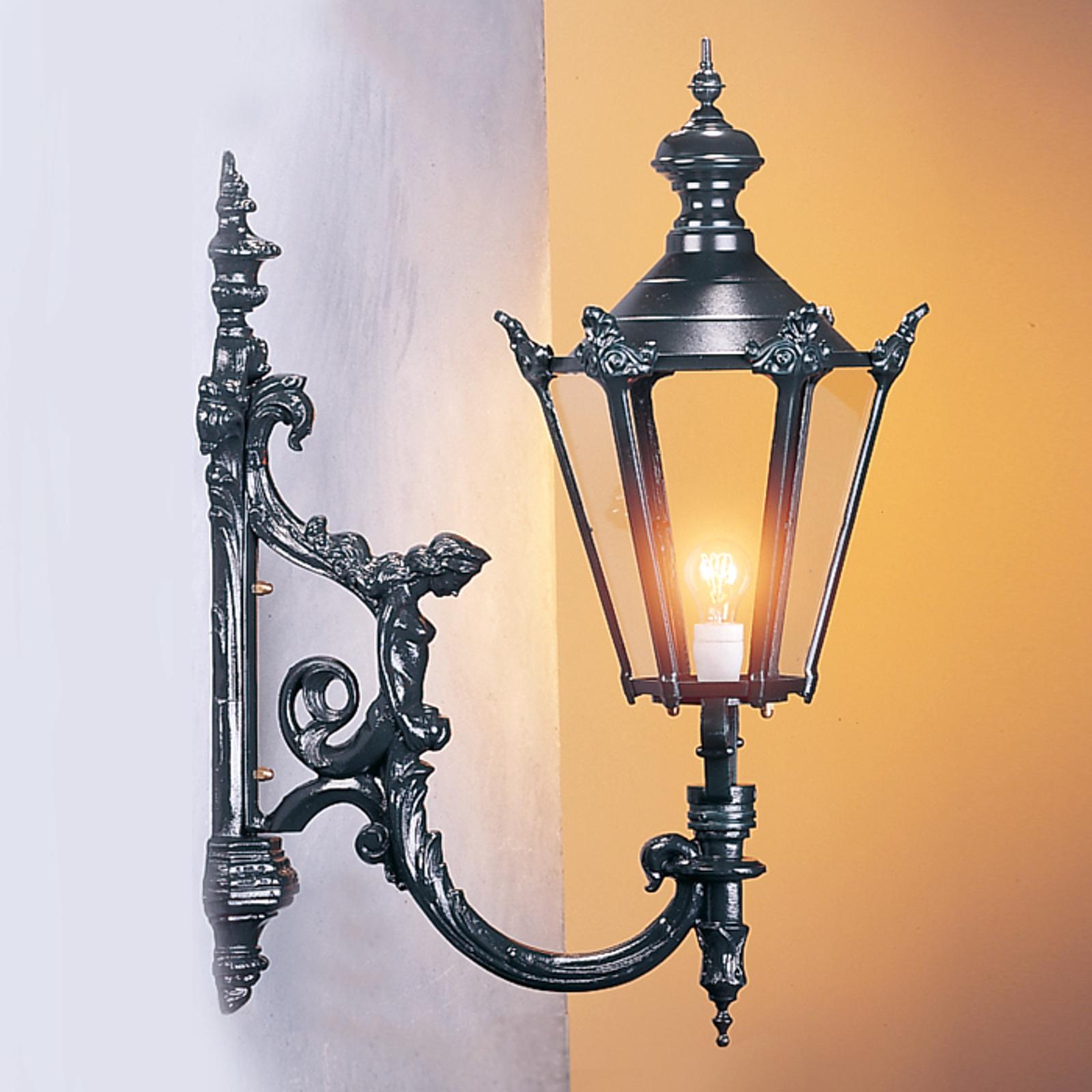 Zewnętrzna lampa ścienna Charles, czarna