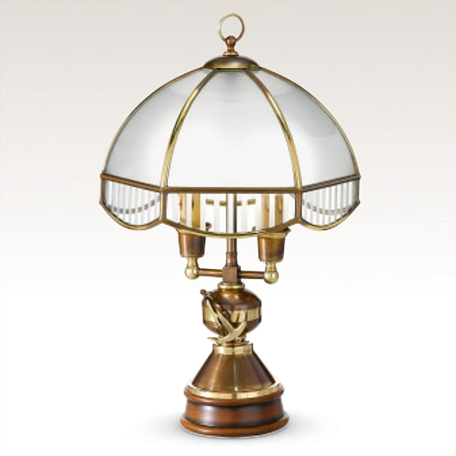 Stolná lampa Laguna so skleneným tienidlom