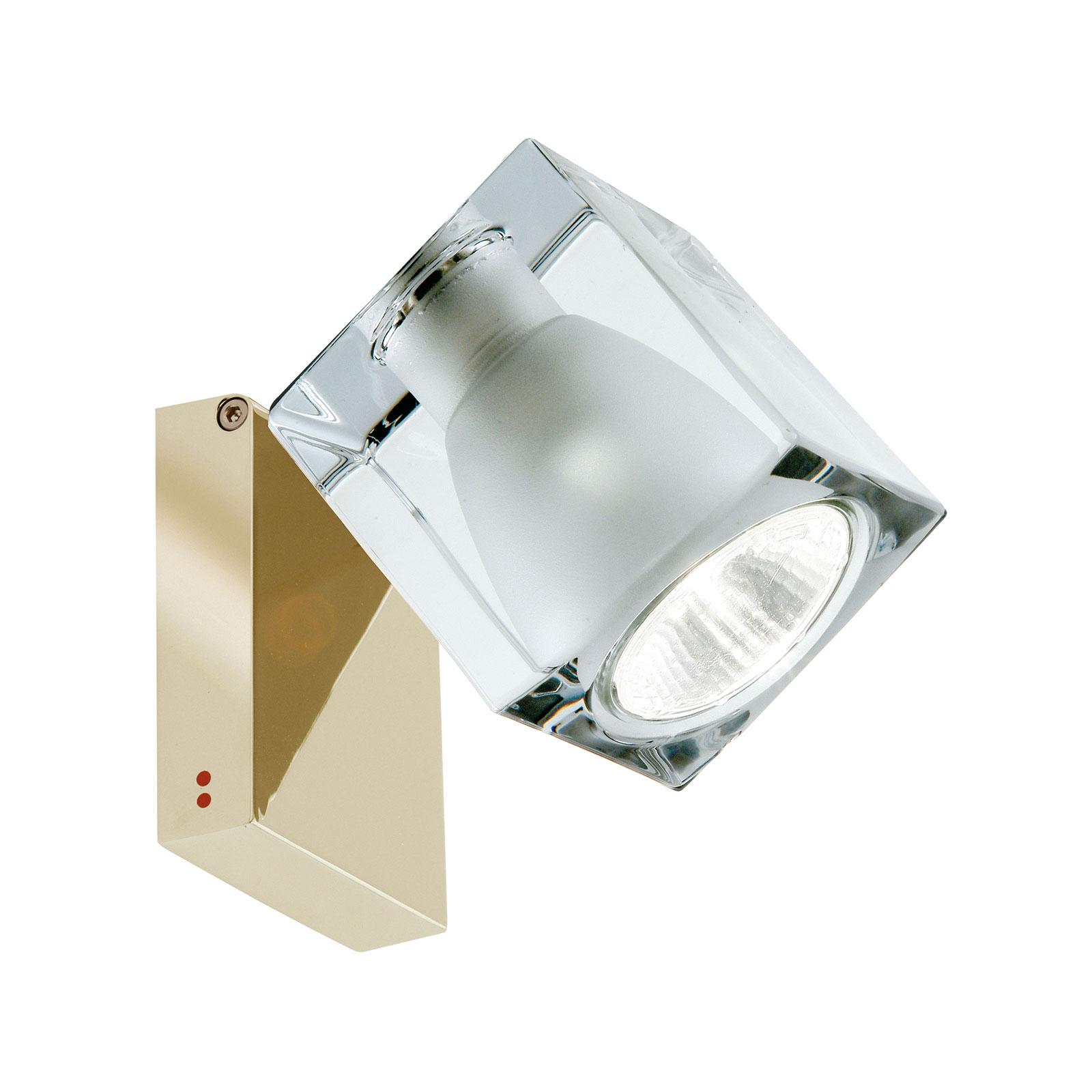 Fabbian Cubetto Wandlampe GU10 messing/klar
