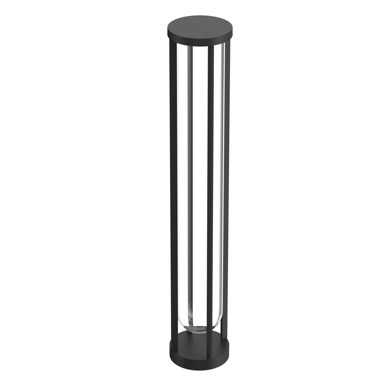 FLOS In Vitro Bollard 3, 2700K 90 cm svart