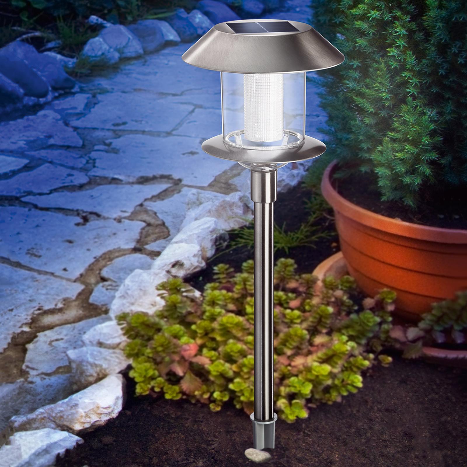 Swing Duo Solar - solcellelampe i rustfrit stål