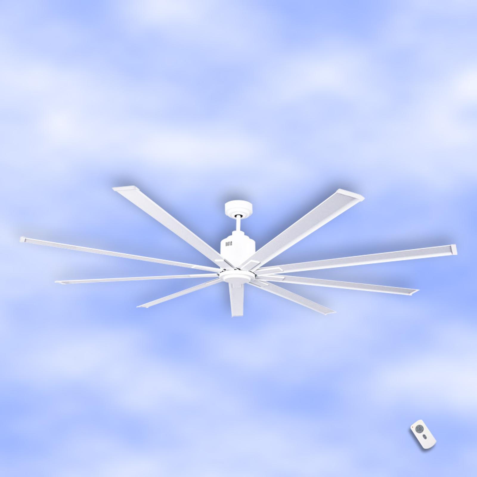 Ventilador de techo Big Smooth Eco, 220 cm, blanco