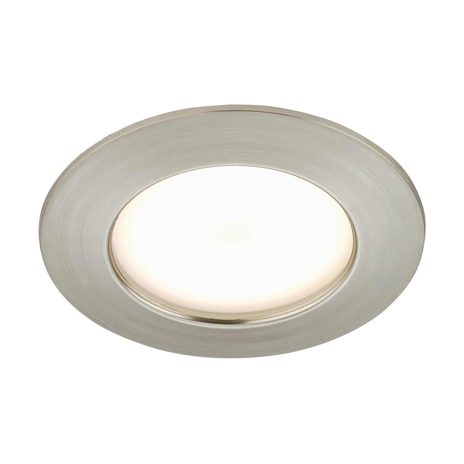 Lyssterk LED-innbyggingslampe Elli, nikkel matt