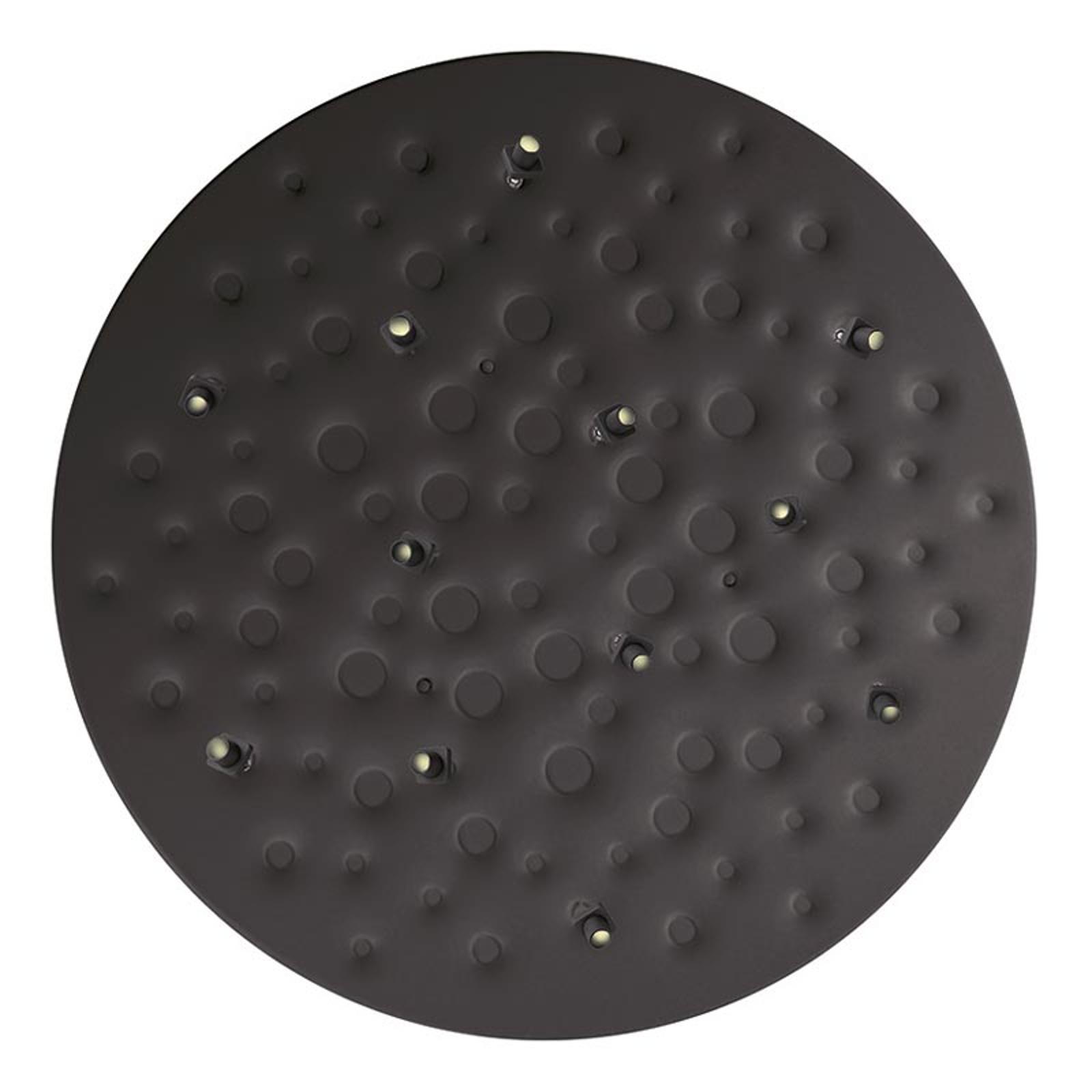 Musta LED-design-riippuvalaisin Silent Field