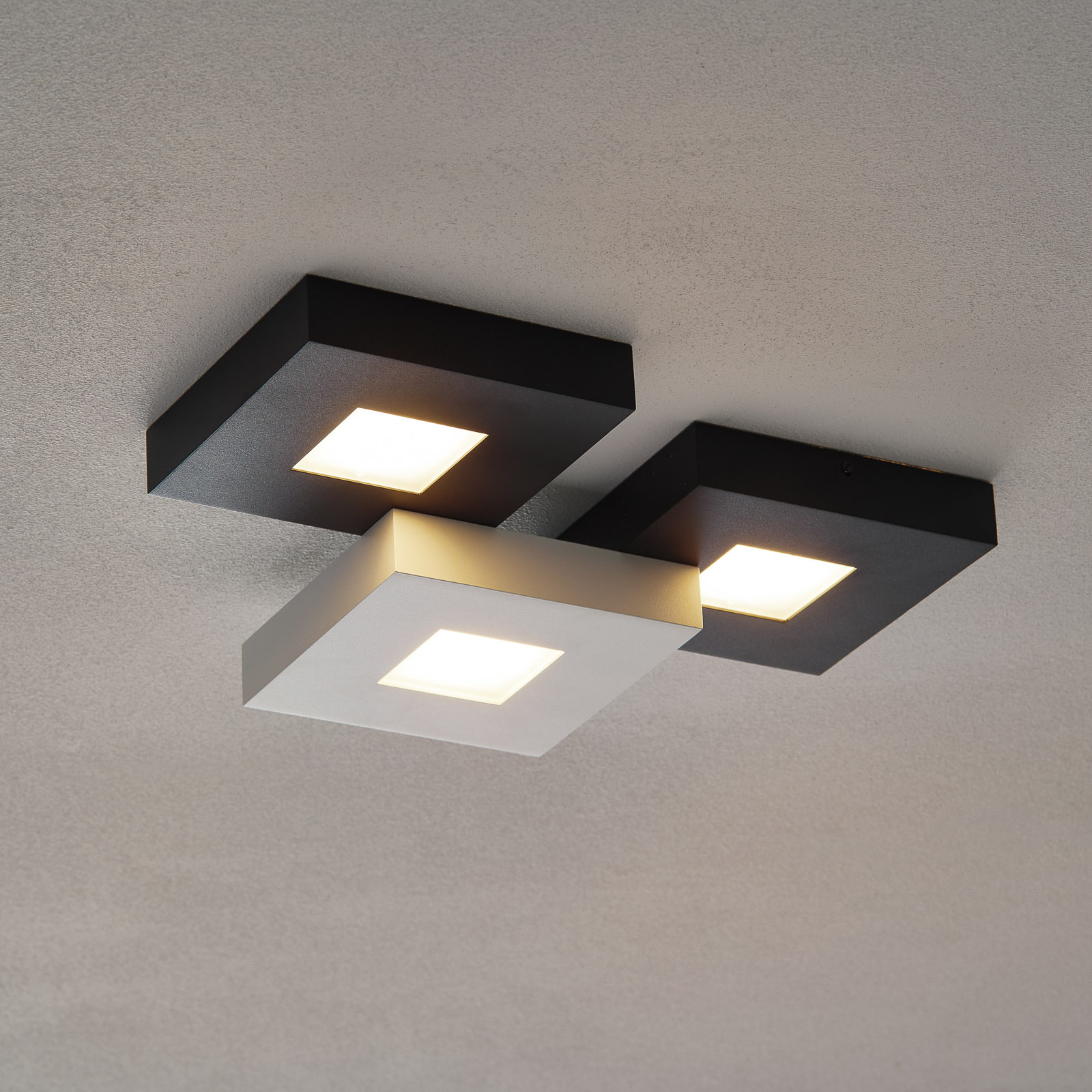 Bopp Cubus - 3zdr LED stropní svítidlo, černobílé