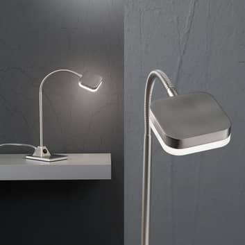 Lampa stołowa LED TOBIAS, nikiel matowy